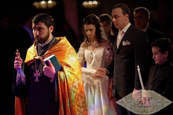 Обряд венчание в грузинской церкви