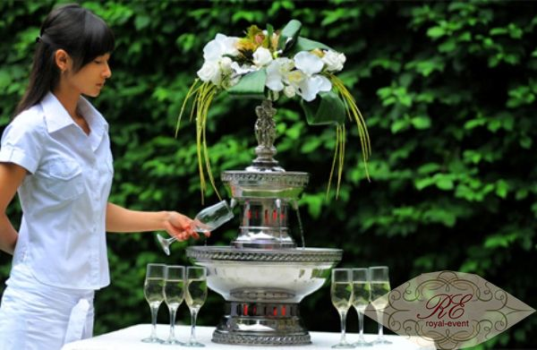 фонтан для шампанского аренда