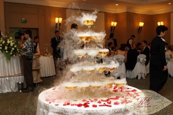 фонтан из шампанского на свадьбу