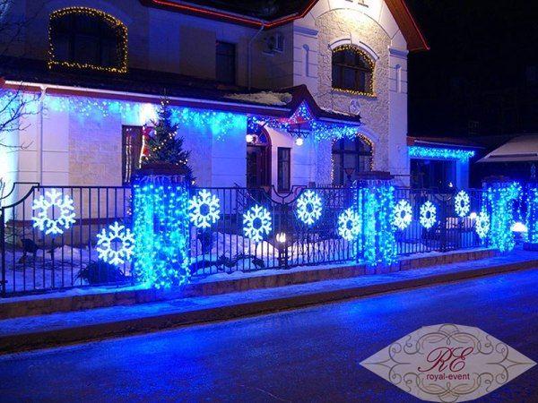 новогоднее оформление домов