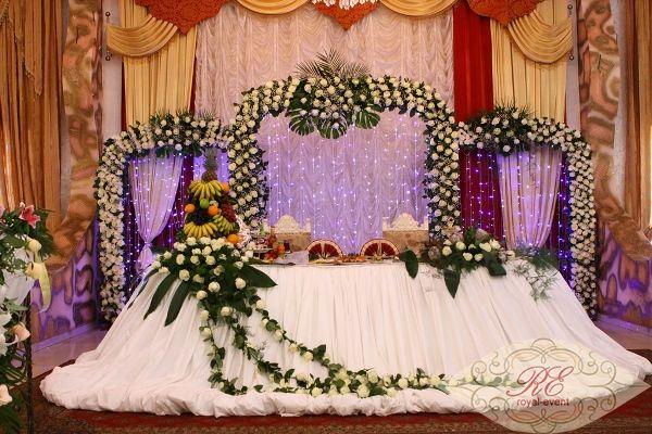 оформление тканью свадьбы